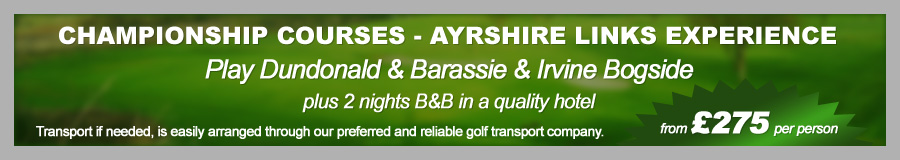Championship Courses - Ayrshire Links Experience